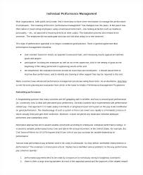 Annual Performance Appraisal Form Rating Examples Writing Self