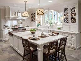 kitchen island with table extension