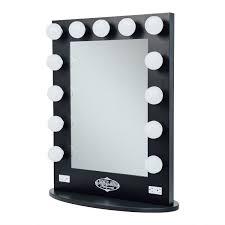 lighted vanity mirror tabletop. amazon.com: broadway lighted vanity mirror - gloss black: amazon launchpad tabletop a