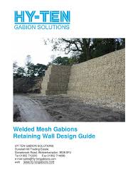 Small Picture Gabion Retaining Wall Design Guide Corrosion Wire