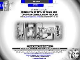 "fluid bed linkedin a doe qbd screening model for ""fluid bed granulation"" process using plackette burman"