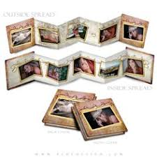 Small Picture Photo Book Template 3x3 Accordion Mini Victorian Garden