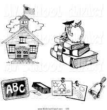 Small Picture Royalty Free Black and White Stock School Designs