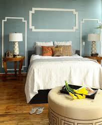 diy beach wall decor bedroom modern with wood floor side table crown molding