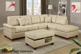 beige leather sectional sofa  stealasofa furniture outlet los