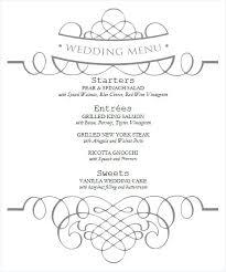 Wedding Drink Menu Template Drinks Menu Template Printable Wedding