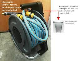 lockflex portable garden hose reel set w bracket