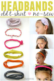 it can t get better than that diy headbands made from old t shirts with no sew method they are 1 min project seriously it s super easy and a really fun