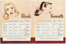 Max Factor Pan Stick Colour Chart Cosmetics And Skin Booklets