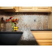 penny tile kitchen backsplash interior awesome metallic penny tile along  with gray full size of metallic