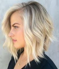 short a line blonde bob hairstyle for thin hair