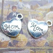 Love Letters Unique B48 4848mmMOM Love Letter R Ancient Silver Alloy Jewelry