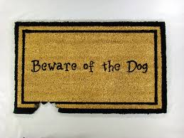 Amazon.com : Kempf Beware of The Dog Doormat, Rubber Backed, 18 by ...