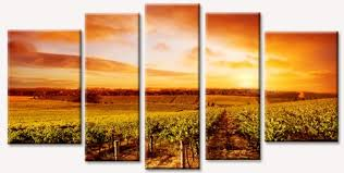 perfect landscape vineyard wall art contemporary decoration abstract giant fl canvas prints painting stickers high