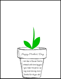 Small Picture Printable Poem Flower Pot for Mothers Day Poem Raising and Flower