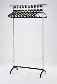 office coat rack. RACK51 Chrome Coat Stand. Office Rack With Black Hangers E