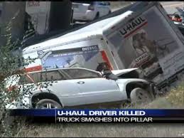 Dangerous Trailers.org U Haul Towing Accident Man and Dog confirmed dead in bridge crash