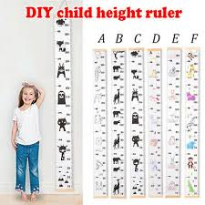 Kids Height Ruler Chart Growth Wooden Children Wall Hanging