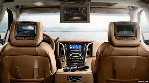 cadillac escalade interior 2015. 2015 cadillac escalade platinum rear seat entertainment interior wallpaper d