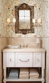 Powder Room Wallpaper Bathroom Cool Powder Room Vanity And Round Undermount Sink Also
