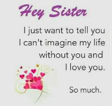 Love You My Sister Quotes
