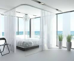 curtain rails in bedroom