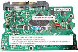 how to fix a hard drive pcb board hddzone com damaged hard drive pcb board