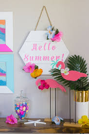 diy hello summer wood sign hellosumer sumecor summercrafts