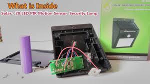 Inside Motion Lights Whats Inside For Solar 20 Led Pir Motion Sensor Waterproof Security Lamp Wall Light Free Energy