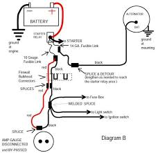 alternator wiring diagram ammeter wiring diagram schematics amp gauge wiring diagrams electrical wiring