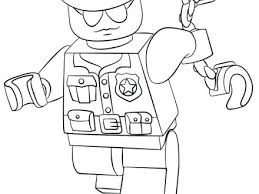 Police Officer Coloring Pages Printable Police Officer Coloring