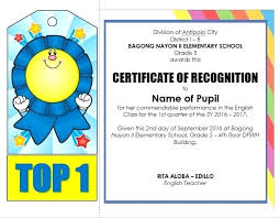 Samples Of Awards Certificates Certificates On Sample Blank Certificate Of Recognition Best