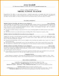 Sample Middle School Teacher Resume Sample Resume For Middle School ...