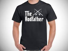 the rodfather mens funny fishing t shirt