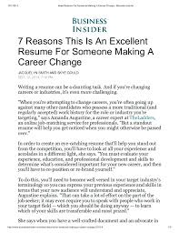 How To Write A Resume For A Career Change Sample Resume For A Career