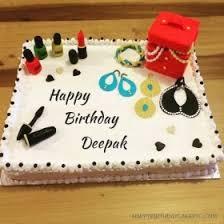 Happy Birthday Deepak Wallpaper Pink Heart Happy Birthday Cake For