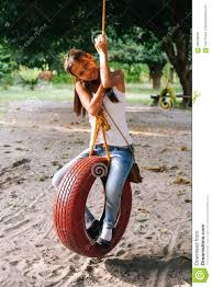 Playing Swinging Farm 90550549 Swing Stock Of Young Girl On Oxfordshire In Tire Image - Beautiful The