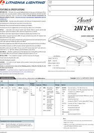 Lithonia Lighting Avante 2av 2x4 Brochure