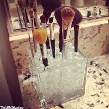 make up brush holder you can use marbles pebbles beads coffee