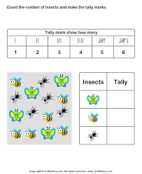Count Insects And Make Tally Chart Worksheet Turtle Diary