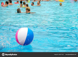 swimming pool beach ball background. Beach Ball Floating Blue Swimming Pool Summer Background \u2014 Stock Photo Swimming Pool Beach Ball Background M