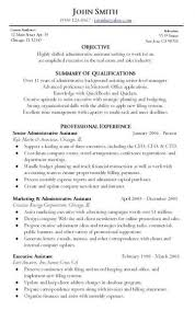 Administrative Resume Sample Best Of Administrative Resume Sample Objective Summary Of Qualifications