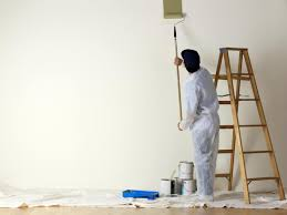 after you ve cut in your edges at the ceiling and baseboard using a brush use your roller to apply paint from the ceiling downward