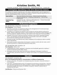 Civil Engineer Resume Sample Pdf Best Of Sample Resume Of A Civil