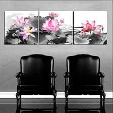 framed 3 panel canvas art lotus flower oil painting feng shui picture wall decor a1358 in painting calligraphy from home garden on aliexpress  on lotus panel wall art with framed 3 panel canvas art lotus flower oil painting feng shui