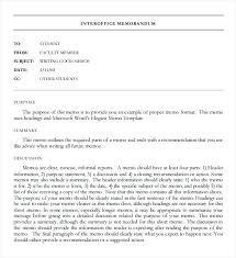 Memorandum Samples Templates Advertising Interoffice Memo Template Free Download 6 7