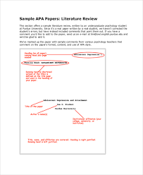literature review example apa sample literature review 7 documents in pdf word