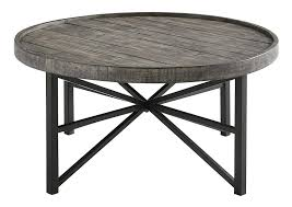 ashley furniture signature design cazentine 28 inch waist size new round coffee table distressed