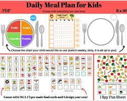 Meal Chart Jasonkellyphoto Co