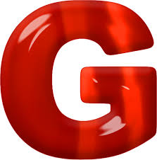 letter g presentation alphabets red glass letter g